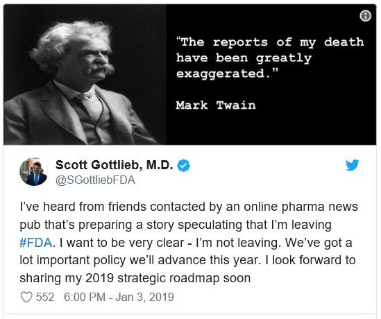 Scott Gottlieb tweet