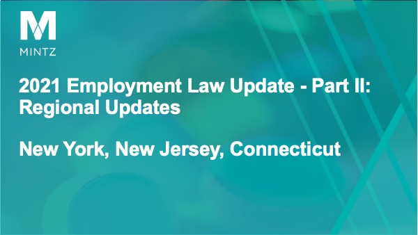 Session 5 - Regional Updates for NY, NJ, CT