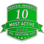 Patexia 10 Most Active 2020